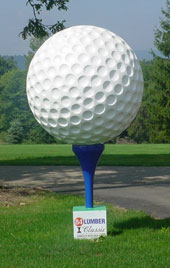Giant Golf Ball on Tee